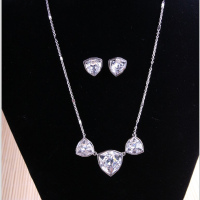 bridal crystal earring&necklace set