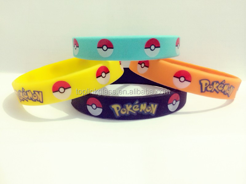 pokemon ball Fashion silicone wristbands, cool wristbands silicone accept OEM with your picture