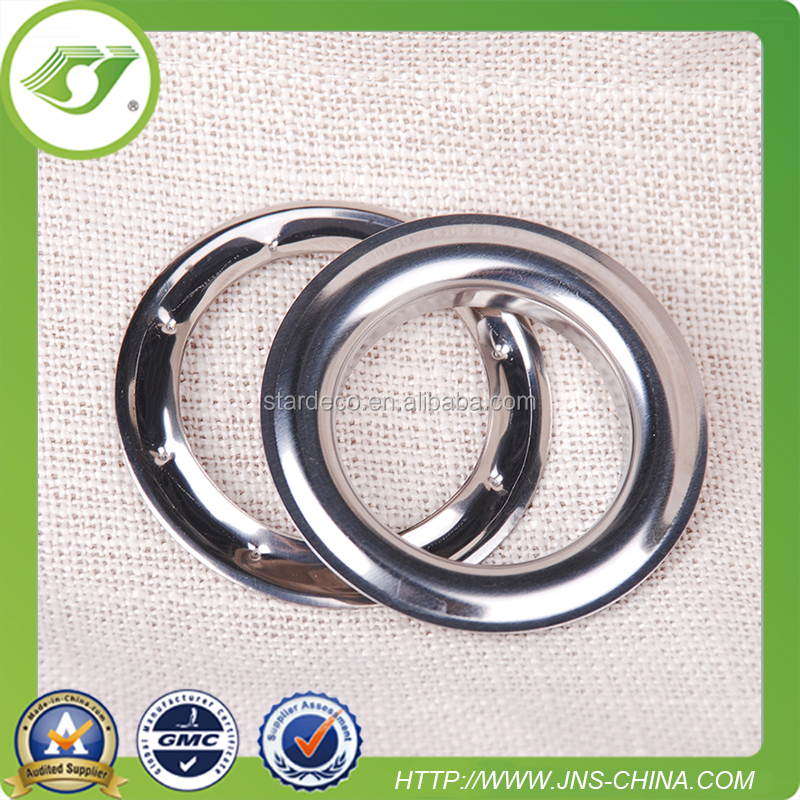 Metal eyelet for curtain tape, 42mm metal curtain eyelet ring