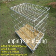 ISO14001galvanized or pvc coated welded Pet Cages for dog (factory)