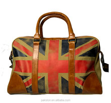 Printed canvas travel handbag Vintage canvas duffle bag Custom made OEM factory