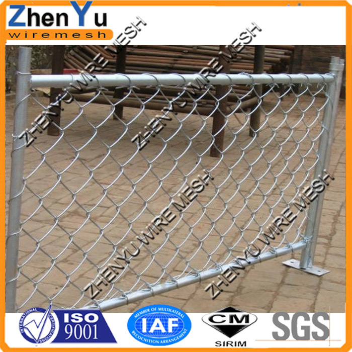 Cheap Used PVC coated chain link fence panel with painted post for gate fence(factory,15 years sale)
