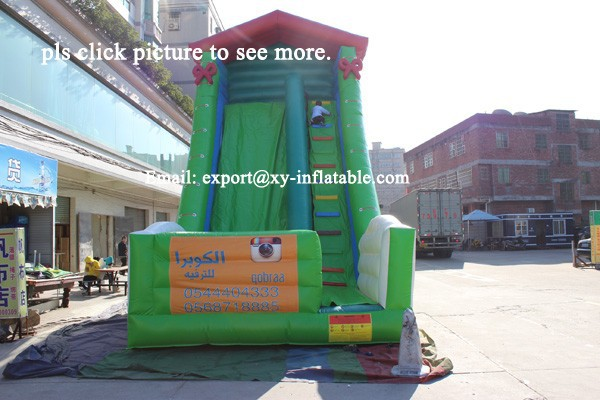 new fashion inflatable slides/wet and dry use cheap children slides