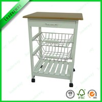 Multi-function kitchen furniture new design kitchen trolley with wheels
