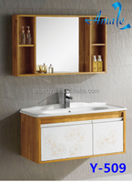 Modern design beautiful bathroom furniture colored wall hanging cabinets #Y-509