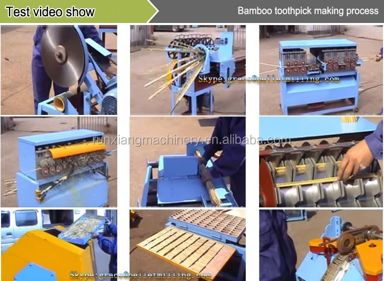 Easy to operate wooden toothpick making machine bamboo toothpick machine price