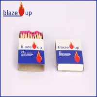 100% carbonized and polished splints match pocket safety matches