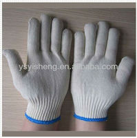600g high quality yarn knitting white cotton gloves for motorcycle used from cotton gloves manufacturer