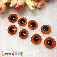 12mm Wool Needle Felted Animal Doll Black Tea Toy Glass Eyes