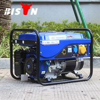 BISON(CHINA) New Type 5kw 5000w AC Three Phase Copper Wire Strong Frame Gasoline 230 Volt Portable Generator