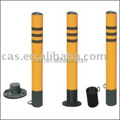 Steel Traffic Post/bollard black and yellow