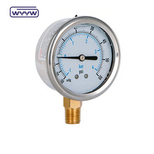 liquid filled oil pressure gauge meter 63mm dial