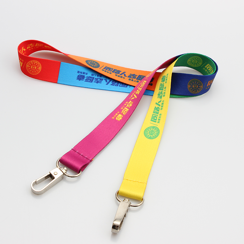Double hook polyester duplex printing lanyard design free