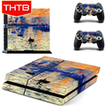Setting Sun Picture Skins Stickers Cover For Playstation PS 4