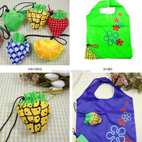 eco-friendly nylon pu reusable foldable plastic fruit shopping bag