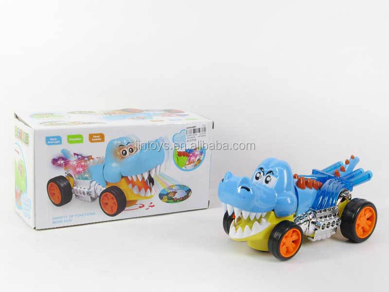 Promotional toys electric plastic crocodile toy(2C), battery operated cayman toys for wholesale, AD004994