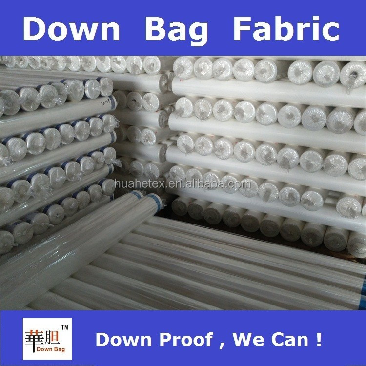 garment stock lot down proof fabric for down jacket and duvet