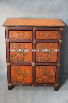 Chinese Antique Furniture Tibetan Style Cabinet