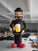 Holland inflatable old man balloon with beer cup K9011