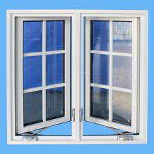 Two metal window leaf frame pvc casement window with Australian standards AS2208