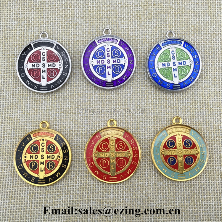 Factory wholesale religious rosary pendant & charm, jewelry pendants& charms, St. Benedict catholic pendants