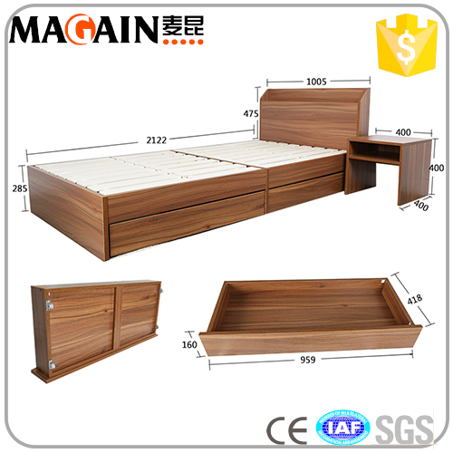 Latest design wooden single bed