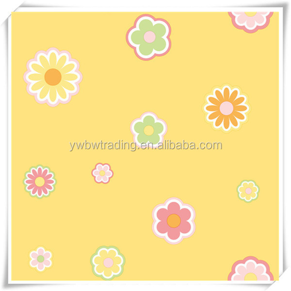 2014 new style yellow color kids room papel de parede for baby room