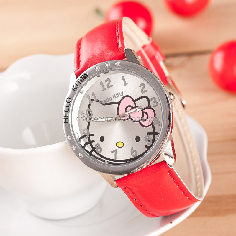 2016 New Fashion Gift Hello Kitty Lady's Children Wrist Watch
