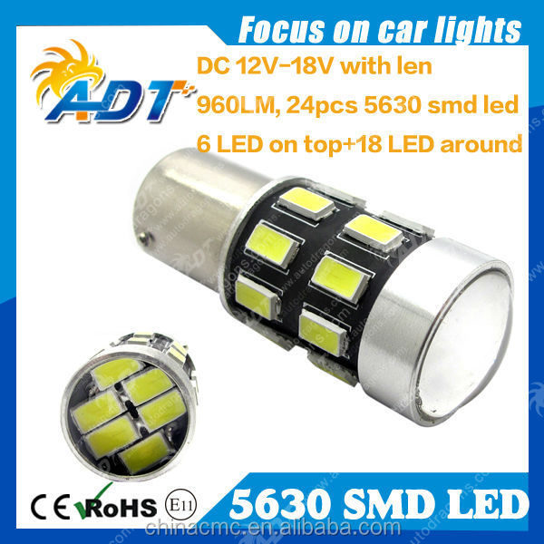 5630 SMD 24 LEDs Super Bright Car Auto Tail Light Bulb Lamp White 12V 1156 1157 3156 3157 7440 7443