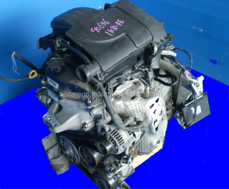 1KR-FE HIGH QUALITY USED CARS ENGINE (EXPORT FROM JAPAN) FOR TOYOTA VITZ, PASSO, IQ, BELTA.
