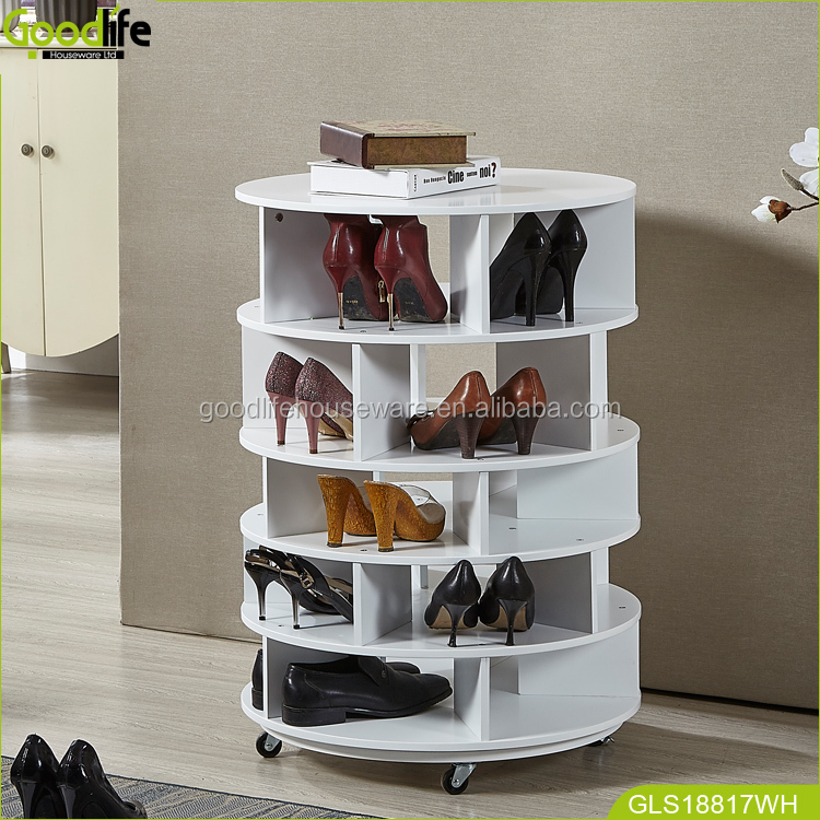 Goodlife Entryway furniture rotating shoe rack shoes organizer wholesale in white