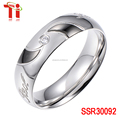 Stainless steel jewelry Bar setting AAA zircon 8mm fashion stainless steel rings