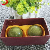 Beautiful Carved jade Stone jade massager Ball and box