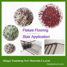 Epoxy flakes Stair Application Colour concrete floor coating
