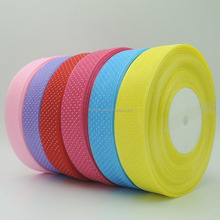 New Product Dot Organza Fabric Roll / Sheer Ribbon Wholesale