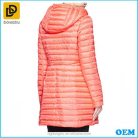 High Quality Drawstring Waist Hooded Long Down Jacket