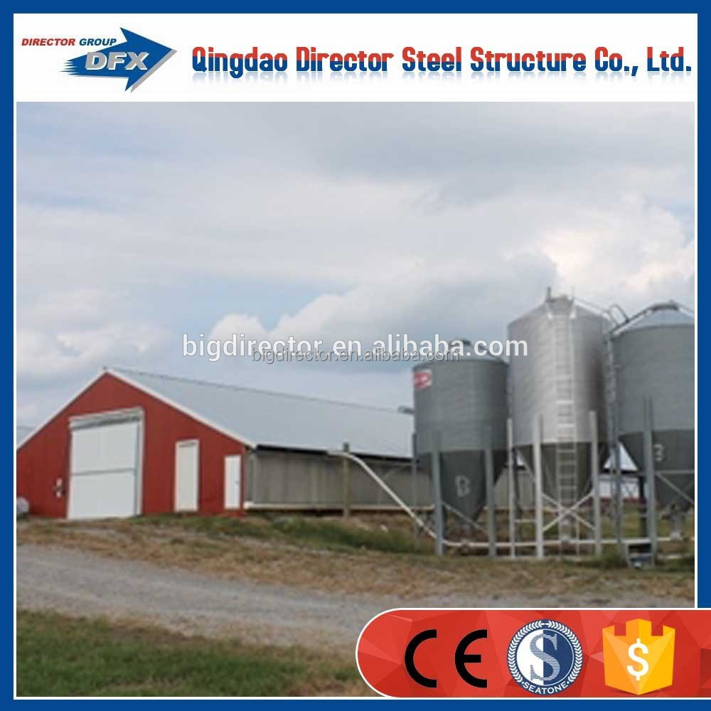galvanized light steel structure chicken farm kit poultry house building