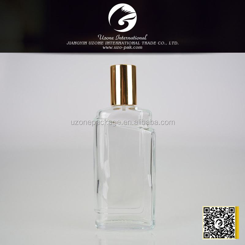 Metal cap perfume bottle