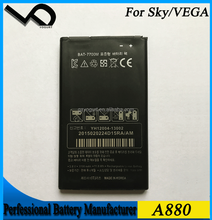 smartphone accessories ! High Capacity Mobile Phone Battery For SKY VEGA A880