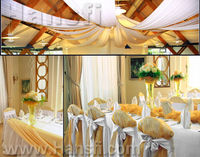 Luxury satin polyester wedding banquet chair cover