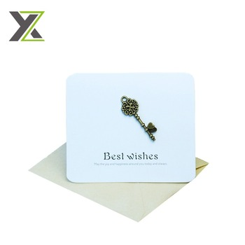 High quality printed gold stamping greeting card