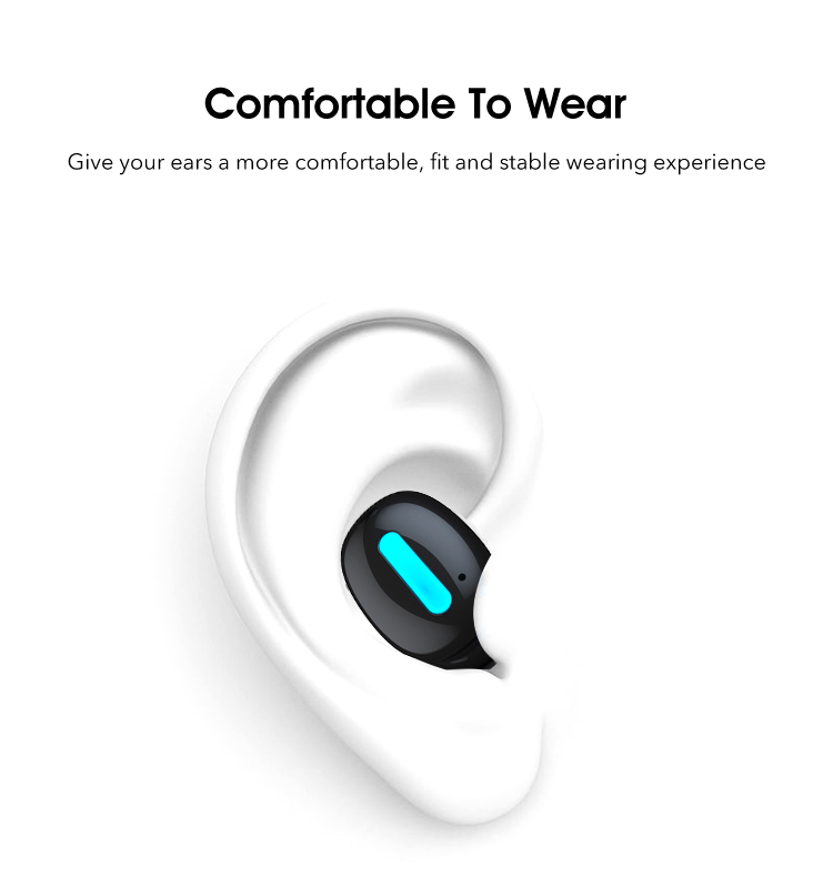 True Wireless Earbuds in-Ear Stereo Headphones Noise Cancelling Headsets Earphones Mini Wireless Headphone