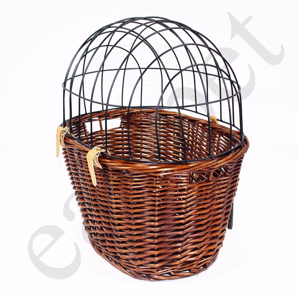 Bicycle Dog Bike Basket Cat Puppy Small Pet Carrier Full Wicker