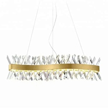 Guzhen modern hanging crystal chandelier pendant light