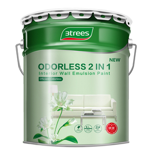 3TREES High Coverage Efficient Odorless 2 in 1 Interior Wall Paint