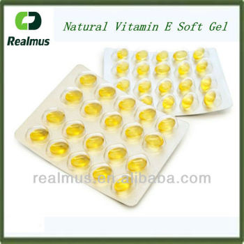 100% natural vitamin e soft gel in blister