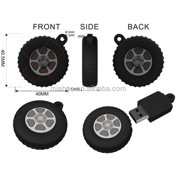 OEM rubber tyre shape usb flash drive, PVC keychain usb tire with custom logo for gift promotion