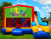 7in1 Sesame Street Bounce House Inflatable
