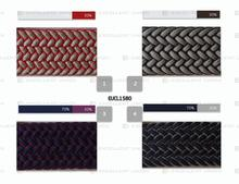 EUCL1580 cotton/ polyester webbing belt stripe elastic web belt weaved material strap woven webbing stripe