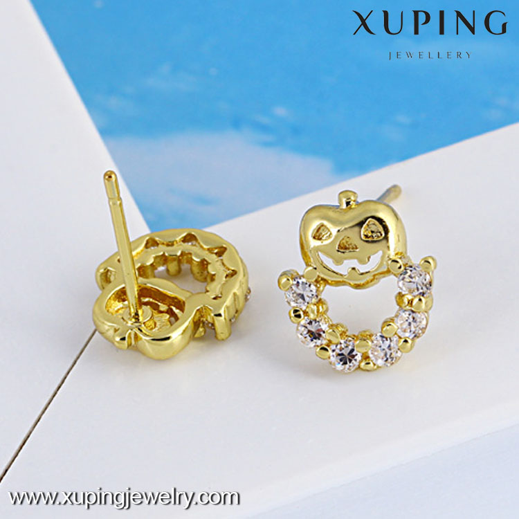Xuping Fashion Earrings Hot sales popular 14K gold plated studs earrings